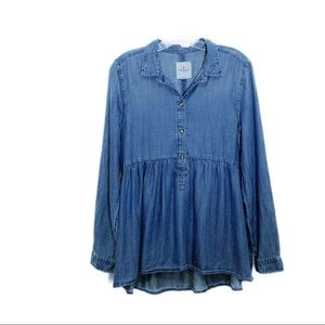 American Eagle outfitters chambray blouse/tunic